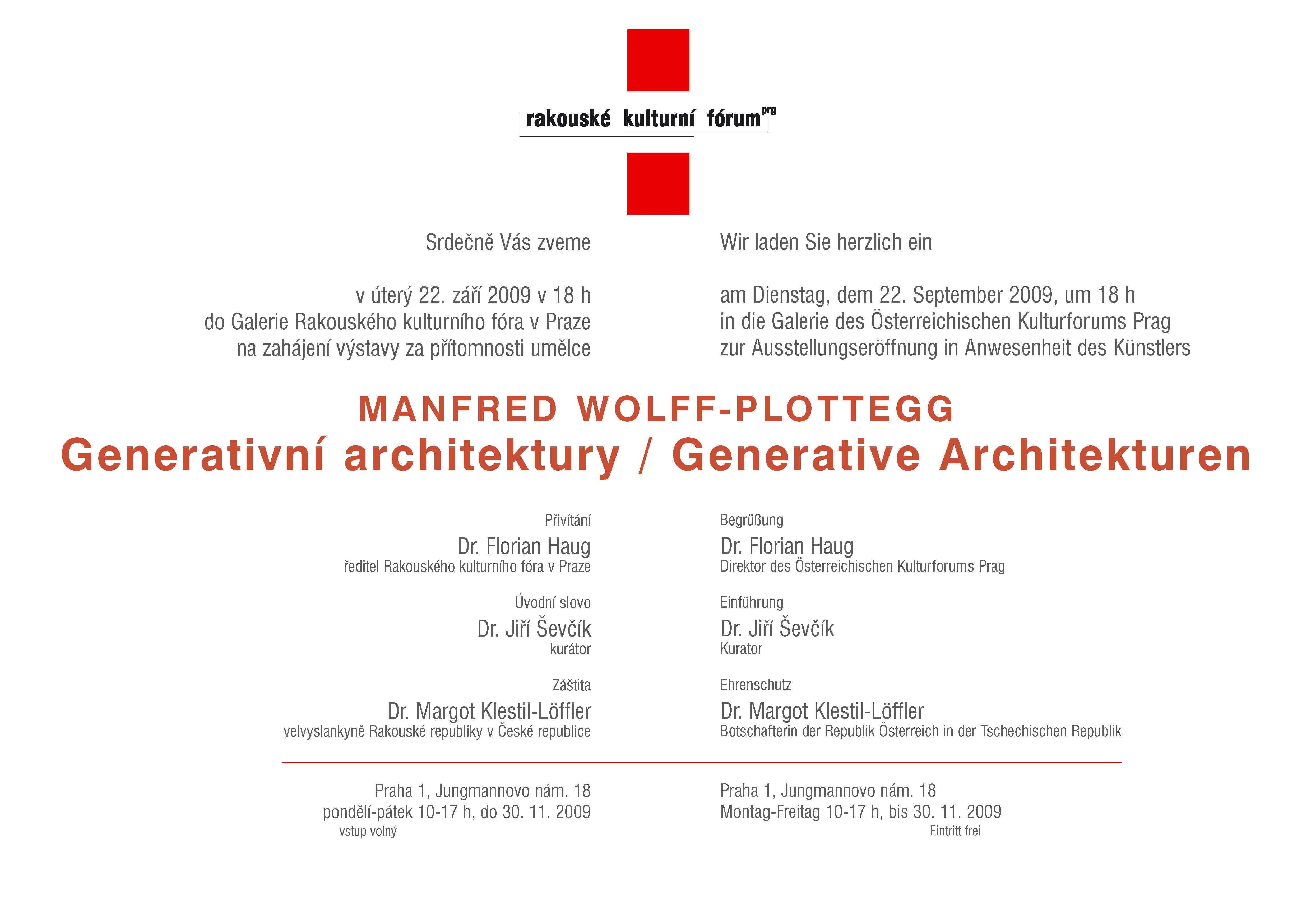 Generativní Architektury Prag 2009